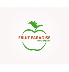logo design element apple fruit eco vector image