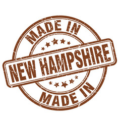 made in new hampshire brown grunge round stamp vector image