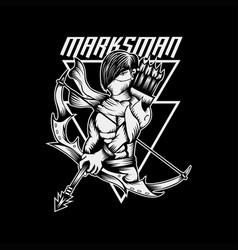 marksman vector image