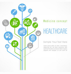 medical outline concept poster vector image