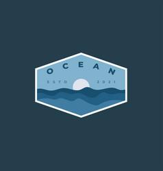 ocean sea view logo vector image