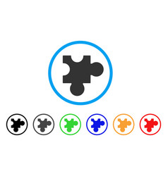 plugin rounded icon vector image