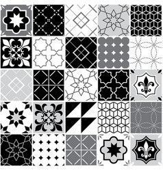 Portuguese tiles azulejos seamless pattern vector