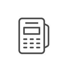 pos terminal line icon vector image