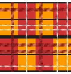 Red orange tartan vector