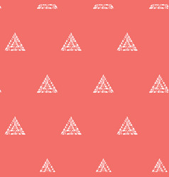 Red shibori simple triangles polka dot vector