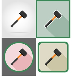 repair tools flat icons 12 vector image