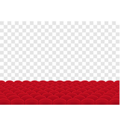 Rows of red seats on transparent background vector
