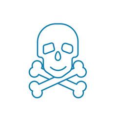 Scanning bones linear icon concept scanning bones vector