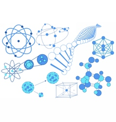 Science elements symbols and schemes vector