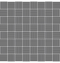 Seamless black and white cubes vector image