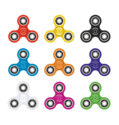 set fidget toy spinners vector image