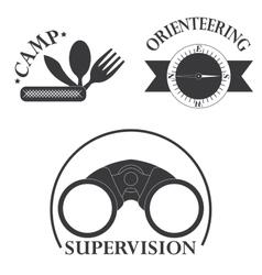 Set of tourism logo vector