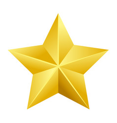 Shiny bright five-pointed star flat vector