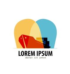 Ship logo design template delivery or vector