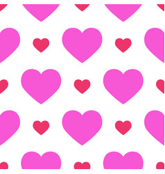simple red heart sharp seamless pattern vector image