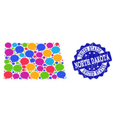 Social network map of north dakota state with talk vector