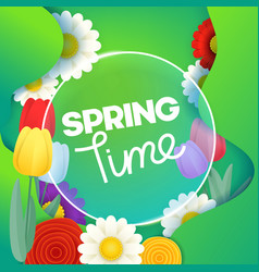 spring time concept template vector image