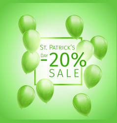 st patricks day sale banner vector image