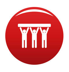 strong teamwork icon red vector image