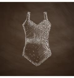 Swimsuit icon vector