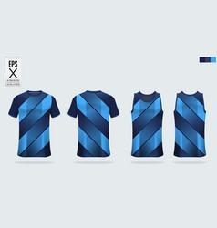 t-shirt sport mockup template design for soccer vector image