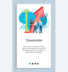 Teamwork people dealing with business project vector