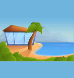 tropical resort concept background cartoon style vector image