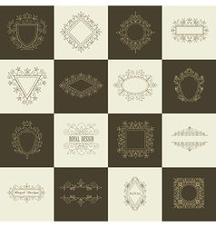 Vintage floral frames for your logo vector