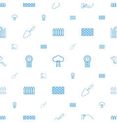 Wall icons pattern seamless white background vector