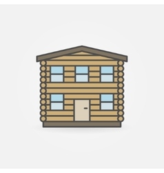 Wooden house logo vector