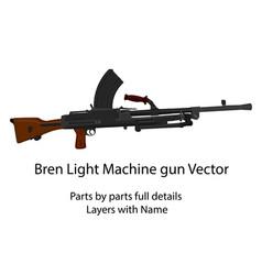 Ww2 bren light machine gun vector