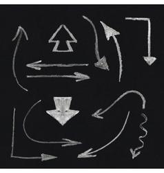 Chalk arrow set vector image vector image