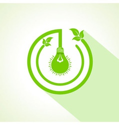 eco bulb with and leaf vector image