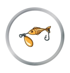 Fishing bait icon in cartoon style isolated on vector image