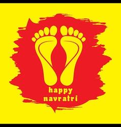 Happy diwali or navratri festival greeting vector