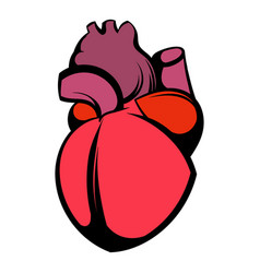 human heart icon icon cartoon vector image