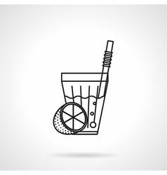 Lemonade black line icon vector image