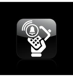phone alarm icon vector image