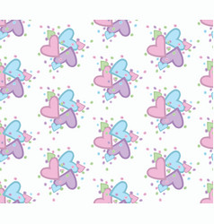 seamless pattern with nice hearts vector image