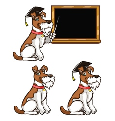 Smart Dog vector image
