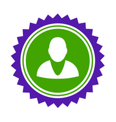 user stamp seal flat icon vector image