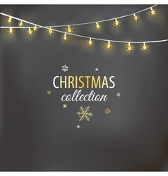 Christmas design with light garland vector image vector image