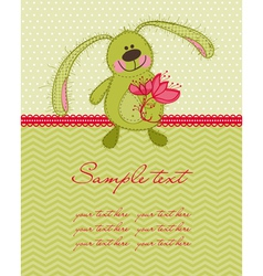 cute bunny card vector image