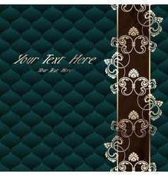 Elegant dark green Rococo background vector image vector image