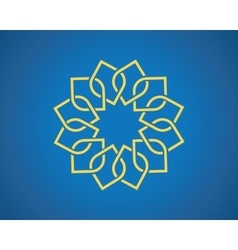 Geometric arabic pattern vector