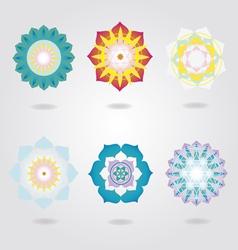 Mandalas icons set vector image vector image