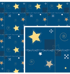 seamless background star and decoration night vector image