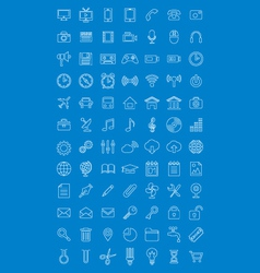Universal icons set for web design vector image