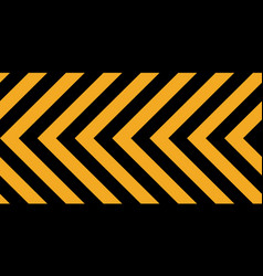 background yellow black stripes industrial sign vector image
